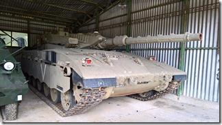 Как мне сказали - редкий экспонат в европейских музеях - изральский танк Merkava Mk.I  - в военно-техническом танковом музее в Лешанах (Прага, Чехия)