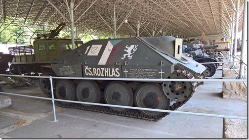 Прототип ПТСАУ Hetzer Jagdpanzer 38(t) (Sd.Kfz. 138/2) в военно-техническом танковом музее в Лешанах (Прага, Чехия)