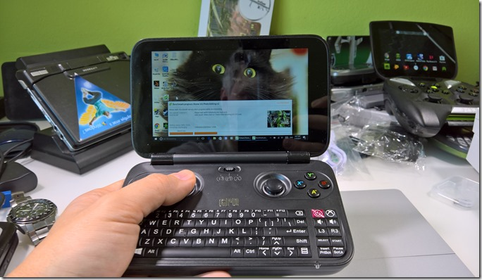 GPD Win ergonomic - one hand manipulations