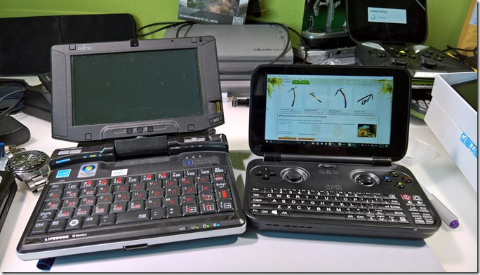 GPD Win & Fujitsu Lifebook U810 6 screen UMPC