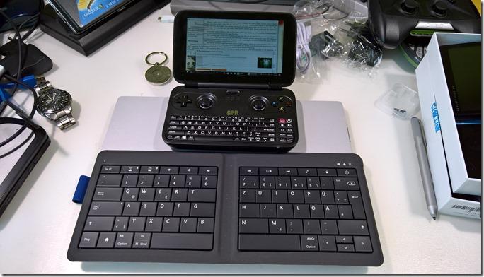 GPD Win & Microsoft Mobile Foldable Keyboard
